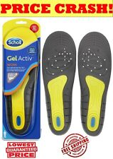 SCHOLL GEL ACTIVE WORK for WOMEN INSOLES w/ Gel Activ Technology Size 5-8UK