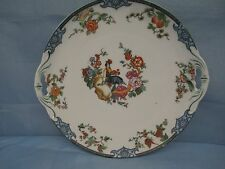 M Z AUSTRIA MORITZ ZDEKAUER CHINA Cake Dainty Plate ROOSTER GAME COCK