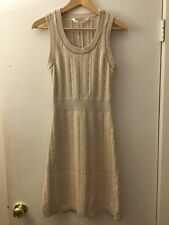 Athleta Gray/Tan Cable Knit Sweater Dress, Size S
