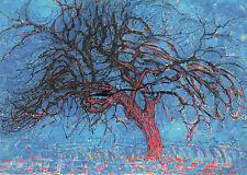 Kunstpostkarte -  Piet Mondrian:   Der rote Baum