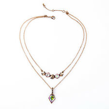N2951 i+c Double Layers Captivating Pieces Geovista Convertible Pendant Necklace
