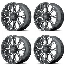 17x9 HELO HE879 6x139.7/6x5.5 18 Black Machine Milled Wheel New set(4)