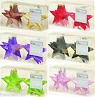 Glitter Stars 6 Christmas Tree Baubles Decoration Shatterproof Decorations 10cm