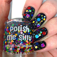 Surprise Me -Custom-Blended Indie Glitter Nail Polish / Lacquer
