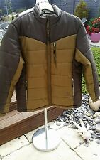 BNWT *EVERLAST* MENS 'LIME' BROWN PADDED ZIP UP WINTER JACKET COAT XL RRP£59.99