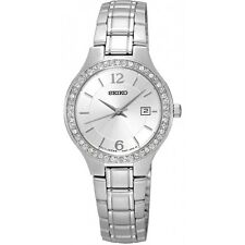 Seiko SUR789P1 Ladies Swarovski Set 30m Dress Watch RRP £200 Official Stockist