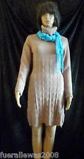 Strickkleid knitted dress mit  Cashmere in hell camel Gr 40/42 NEU