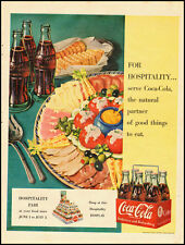 1950 Vintage ad for Coca-Cola/Ham,Cheese, Olives/Coke in Bottles (032613)