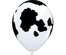 25 x Qualatex Latex Helium Quality Cow Print balloons