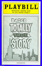 Playbill + Based on a Totally True Story + Erik Heger, Carson Elrod, Pedro Pasca