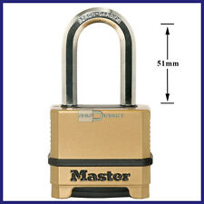 Master Lock Excell M175DLH Combination Padlock *Longer Shackle*