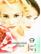 PUBLICITE ADVERTISING 085  1996  CACHAREL  eau de toilette  ANAIS ANAIS