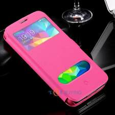 Smart Case View Window Magnetic Leather Flip Pouch Stand Cover Skin For Samsung