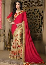 Latest Indian Bollywood Sari designer georgette Fancy Partywear Traditional sare