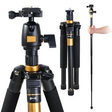 "Adjustable Pro 60"" Tripod Monopod w Ball Head Pocket DSLR Camera Travel Alu"