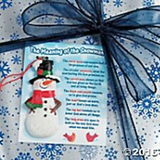 Meaning of the Snowman Ornament On Card INSPIRATIONAL Christmas  Resin 3 1/2""