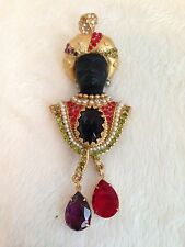 ASKEW LONDON NUBIAN MORETTI BLACKAMOOR KING Pin Brooch