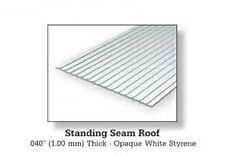 "Evergreen Styrene 4522 1 x 1/4"" (6.3mm) Spacing 6"" x 12""x .040"" 'Metal Roofing'"