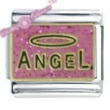 DAISY Charm da JSC CIONDOLO ITALIANO-Angel Rosa Glitter