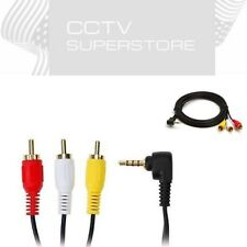3 ft AV 3.5 mm plug to 3 RCA plug male Composite Audio video cable PC TV CCTV