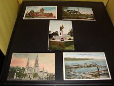Vintage Quebec Canada Post Card Quantity 5 Lot VG 1908 Chateau Frontenac