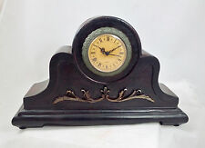 Vintage-style Mantel Clock Wood Battery Op Quartz New Americana Design