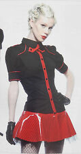 LIP SERVICE LADY IS A TRAMP RED TOP AND MINI SKIRT SET M