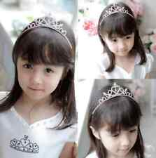 KID Girl Rhinestone Tiara Hair Band Bridal Wedding Princess Prom Crown Headband
