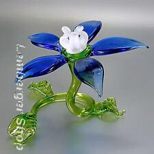 Blume aus Glas handgefertigte Glasfigur Schönes Geschenk 7 cm breit
