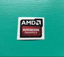 AMD Radeon Graphics Sticker 16.5 x 19.5mm Case Badge New Version USA Seller
