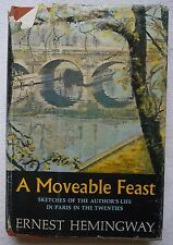 A Moveable Feast by Ernest Hemingway 1964 Hardcover Early BCE W Printing Book