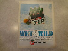"1966 7-Up Seven-up Vintage Magazine Ad ""Wet and Wild"""