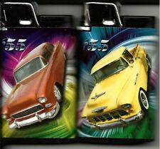 HOT RODS DJEEP LIGHTER SET OF 2 NEW CLASSIC CARS AND TRUCKS ORANGE YELLOW