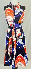Talbots Geometric Sailboat Print Sleeveless Shirt Dress Sz 12; $149; Work/Casual