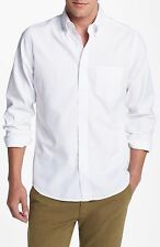 NWT AUTHENTIC  Men's Gant Rugger White Washed Oxford Shirt SZ Small $125