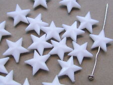 15 White Star 15mm Acrylic Beads(G105G40)