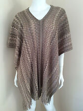 MISSONI PONCHO/KAFTAN/SCARF IN THE SIGNATURE ZIGZAG DESIGN MADE IN ITALY