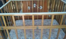Playpen Portable Crib Vintage Antique Retro 1940s 1950s Wooden