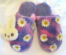 BUNNY CUTE CRAZY FUN FLOWER DAISY NOVELTY XMAS FESTIVE KAWAII SLIPPERS 39 / 6