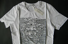 New Versace  Italy Baroque 2017 Collectione T-Shirt White Cotton  Men's Size XL