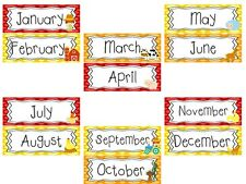 Farm themed Months of the Year Daycare Learning Center Laminated Bulletin Board