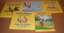 Lot of 5 Spanish & English Curious George Jorge el Curioso Hardcover Books  NEW