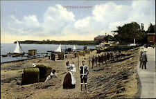 Niendorf Timmendorfer Strand Ostsee ca. 1910 Strand Meer Menschen Kinder Boote