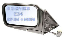 BMW 5 SERIES E34 DOOR wing MIRROR 1988-95 electric primed 9/10 PIN + MEMORY L/H