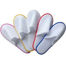 1 pairs Disposable Towelling White Guest Spa Hotel Slippers Shoes Terry New Hot