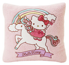 "Sanrio Hello Kitty 17"" Plush Pink Square Couch Pillow Cushion: Unicorn"