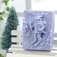 Santa claus Soap Mold Handmade Craft Clay Silicone Cake Chocolate Baking Tools