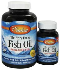 Carlson Labs - The Very Finest Norwegian Fish Oil Omega-3's DHA & EPA Lemon