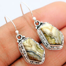 Mexican Laguna Lace 925 Sterling Silver Earrings Jewelry LLAE413