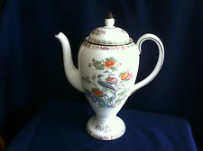 Wedgwood Kutani Crane (brown rim ) 2 1/4 pint coffee pot